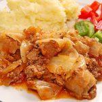 Rotbarschfilet in Sahne – Senf – Sauce mit Erbsenreis