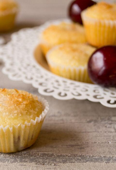 Ab zu Rias Gartenparty mit Kirsch-Kokos-Muffins