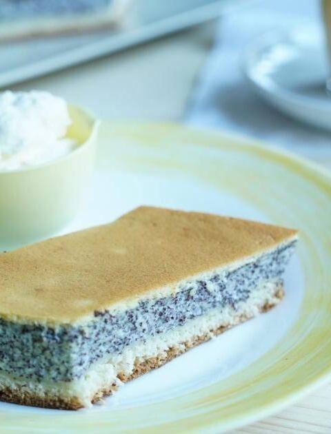 Saftiger Mohnkuchen mit Pudding